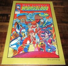 YOUNGBLOOD   #1  IMAGE 1992   Signed Liefeld & Hank Kanalz 2nd Print