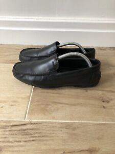 Geox Leather Black Moccasin Size UK7.5 EU41.5•TOP•