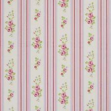 "Clarke and Clarke Floral Stripe Chintz Fabric 137cm/ 54"" Wide"