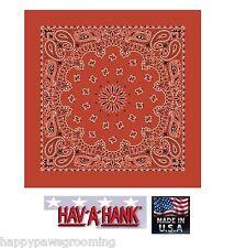 Made in USA Hav-A-Hank Arancione Bruciato Motivo Cachemire Bandana Bandana
