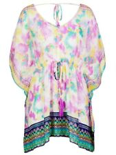 Crossroads Sheer Ladies Loose Fitting Pastel Kaftan-Tunic Size 16-18 (Free Post)