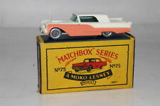 MATCHBOX LESNEY #75A FORD THUNDERBIRD, BLUE BASE, SPW, EXCELLENT, BOXED TYPE B