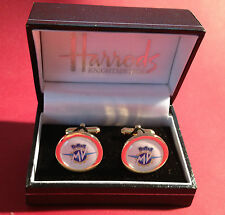 MV  AGUSTA HIGH QUALITY GOLD & SILVER PLATED CUFF LINKS: IN METAL BOX