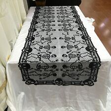 Dining Room Table Napkins Tablecloth Living Lace 200x46cm TV Halloween Decor LL