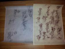 ANDRE FRANQUIN (Gaston) 2 lim. Drucke MAUSI UND PAUL (Modeste et Pompon) 50 x 70