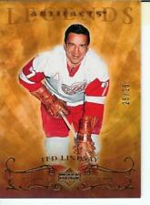 TED LINDSAY ARTIFACTS LEGENDS #25/25  DETROIT RED WINGS