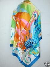 New 100% Satin Silk Scarf Unique Butterfly Design