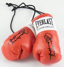 Mini Guantes De Boxeo Autografiado Maravilloso Marvin Hagler