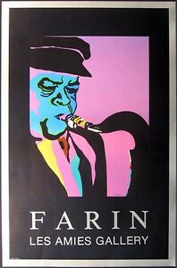 Avi Farin Sax Player unsigned Fine Art Gallery Poster, music SUBMIT BEST OFFER