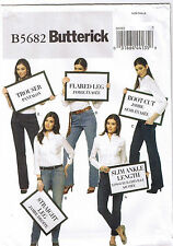 Jeans Pants Trousers Skinny Boot Cut Straight Flared Sewing Pattern 6 8 10 12 14