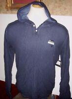 NEW Volcom blue long sleeve henley shirt hoodie pullover thermal S M L XL 2XL