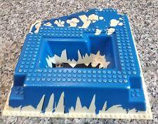 LEGO® 3D Bauplatte weiß/blau Eis-Felsen B-WARE! Mit Fehlern