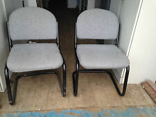 PAIR OF GREY DESK / OFFICE CHAIRS