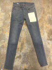 6397 Size 24 Loose Skinny Grey low rise jeans women waist NEW