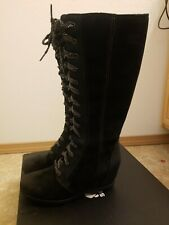 Sorel Joan Of Arctic Wedge II Tall Womens Boot Black US size 9.5