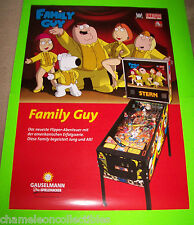 FAMILY GUY By STERN 2007 ORIGINAL PINBALL MACHINE 33.25  X 23.75 PROMO POSTER