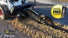 "Blue Diamond Trencher Skid Steer Attachment, 36"" with 6"" Rock Chain & Auger"