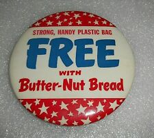 Huge Vintage Advertising Nutter-Butter Bread Pinback Button