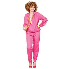 80s Shell Suit Trackie Costume Pink Ladies 1980s Fancy Dress Outfit Plus Size