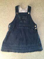 Jojo Maman Bebe Cord Pinafore Dungaree Dress 2-3 Years Blue