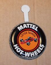 HOT WHEELS Mattel Vintage Redline LOTUS TURBINE Tin Button Badge NICE