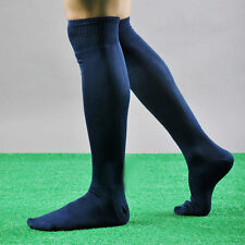 FOOTBALL PLAIN LONG SOCKS SPORT KNEE HIGH LARGE HOCKEY RUGBY MENS WOMENS #B