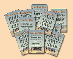 """Pennies From Heaven"" - Inspirational Poem - Ten [10] Mini-Verse Cards -SKU# 726"