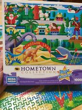 Hometown Collection Heronim 1000 Piece Puzzle Roadside Icons Used Complete