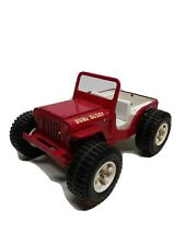 Vintage 1960's/1970's Tonka Jeep Dune Buggy Red Pressed Steel 10 1/2 inches