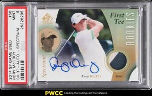 2014 SP Game Used Spectrum Rory McIlroy ROOKIE RC PATCH AUTO /10 #56 PSA 9 MINT