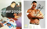 WWE THE ROCK HAND SIGNED AUTOGRAPHED 8X10 LICENSED WRESTLING PHOTO WITH COA