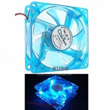 Apevia Blue LED 80mm x 25mm IDE Cable Case Fan Brushless DFS802512L 2 line D por