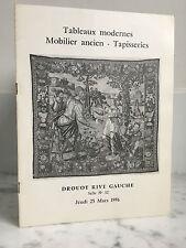 Catalogue de vente Tableaux modernes Mobilier ancien  Salle n°12  25 Mars 1976