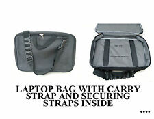 LAPTOP BAG BLACK WITH HANDLE AND SHOULDER STRAP PADDED FREE POST
