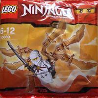 NEW Gold Sword Lego NINJAGO Set 30080 ZANE NINJA GLIDER PolyBag SEALED Retired
