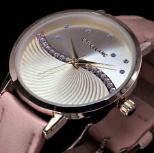 Excellanc Damen Armband Uhr Nude Gold Farben Strass L41