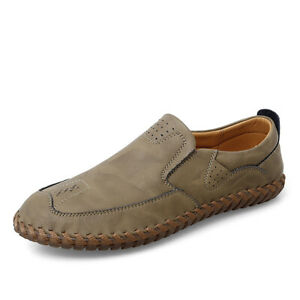 38-47 Mens Driving Moccasins Shoes Pumps Slip on Flats Loafers Breathable Casual