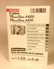 Canon Powershot A610  A620 Digital Camera User Guide Instruction  Spanish Manual