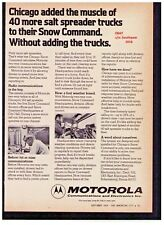 "1974 Motorola ""2-Way Radio"" Chicago Snow Command Vintage Print Advertisement."