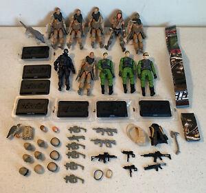 GI Joe Vintage Lot 1:18 figures Zartan Dusty Cobra parts guns helmets S