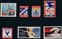 Lot Stamp Label US 1941-5 WWII Hiroshima Buy Tolerance American MNH War Dads MNG