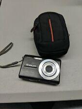 Casio Elixim 7.2 Mega Pixel Digital Camera Black With Case as is