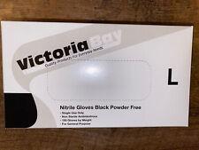 NEW SEALED VICTORIA BAY Powder Free Nitrile Black Gloves Size LARGE 100 Gloves