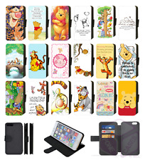 Disney WINNIE THE POOH TIGGER PIGLET EEYORE Wallet Flip Phone Case iPhone Comp