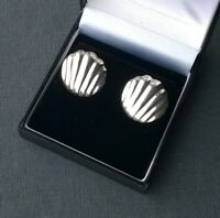 STERLING SILVER SHELL EARRINGS LARGE 925 QUALITY