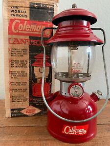 Coleman Burgundy 200a Lantern (12/61) with Original Box