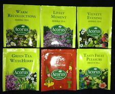 """ ACORUS HERBAL "" Selection Pack  6 Different  Enveloped Tea Bags"