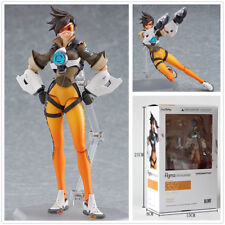Game Overwatch Tracer Lena Oxton 15cm Action Figure Statues Doll Toy Fan's Gifts