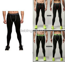 Mens Training  Long Pants Compression Tight Legging Sports Run Exercise Fast-dry