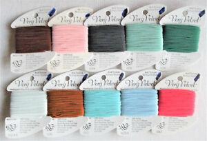 10 Rainbow Gallery VERY VELVET Floss  ~ 100% Nylon